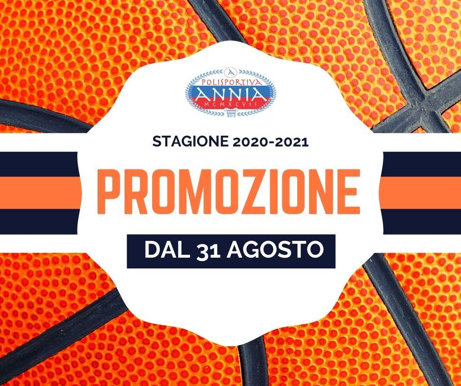 Annia basket - Promozione inizio stagione 2020-2021