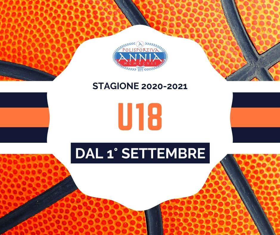 Annia basket - U18 inizio stagione 2020-2021